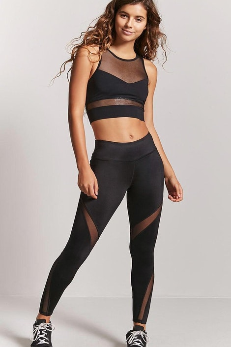 e3d7cd0de47 Active Mesh-Panel Leggings
