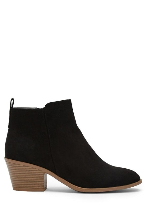 031038350fd Faux Suede Zippered Ankle Booties