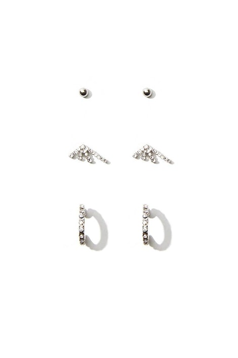 5bf310bd462d7 forever21 JEWELRY, Rhinestone Stud Earring Set for Women at Forever21.in
