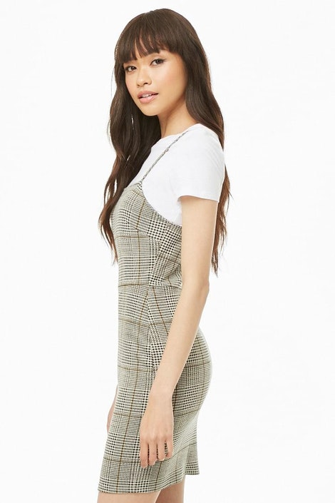 c50feda6d8e Glen Plaid Mini Dress