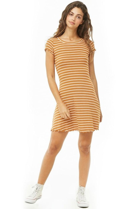 a7b83727a51a forever21 DRESS, Striped Mini Dress for Women at Forever21.in