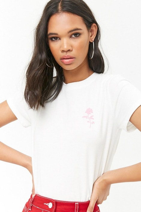 536f57be08f forever21 LOGO, Rose Graphic Tee for Women at Forever21.in