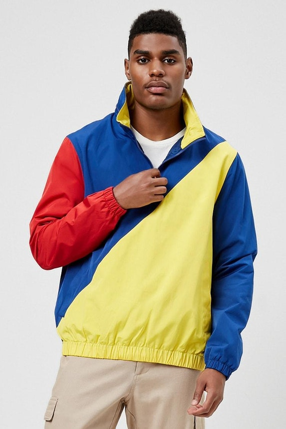Colorblock Hooded Anorak