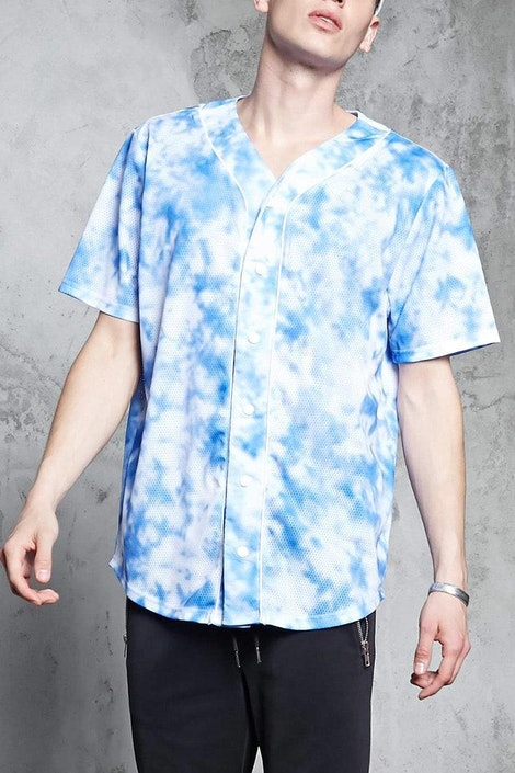cd5c284b0b forever21 KNIT TOP, Cloud Wash Baseball Shirt for Men at Forever21.in