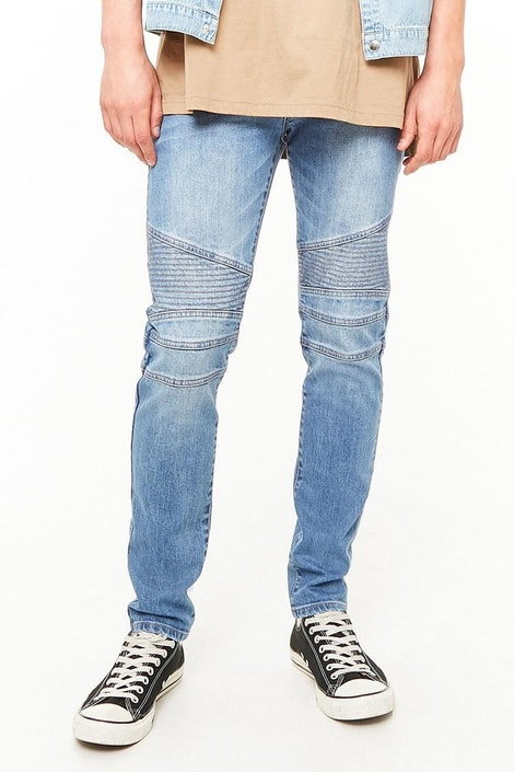 09db87a9 forever21 DENIM PANT, Slim-Fit Moto Jeans for Men at Forever21.in