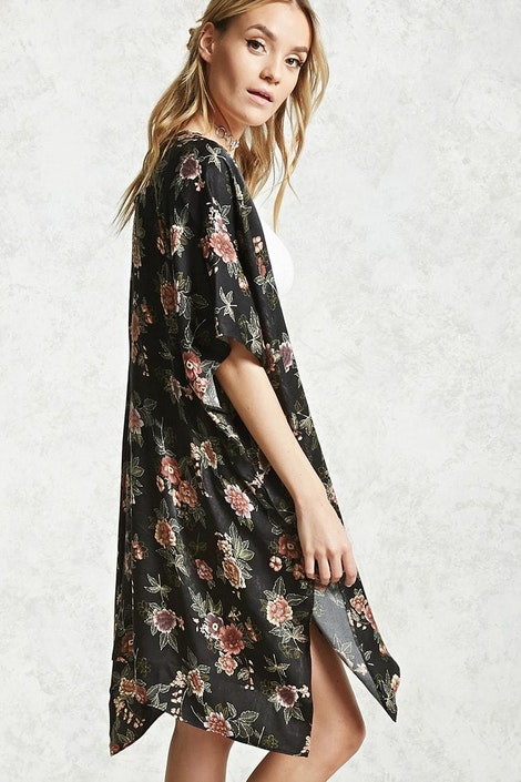 c7e187df67 forever21 WOVEN TOP, Satin Floral Print Kimono for Women at Forever21.in