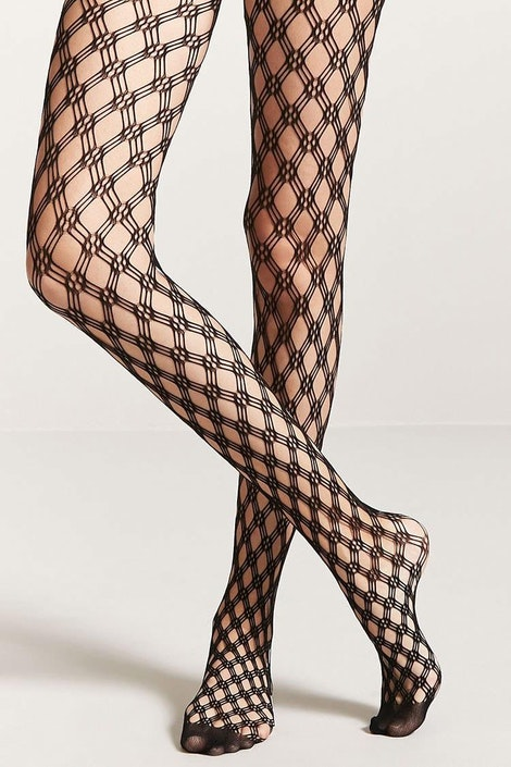 5a040edee1eba forever21 HOSIERY, Geo Fishnet Tights for Women at Forever21.in