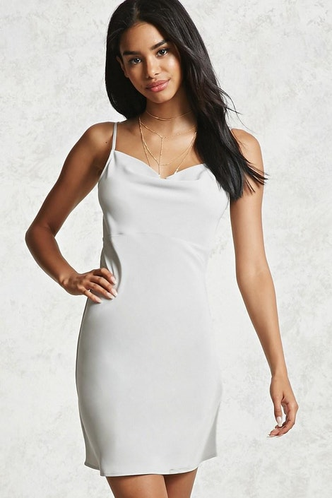a76a7cc6 forever21 DRESS, Cowl Neck Slip Dress for Women at Forever21.in