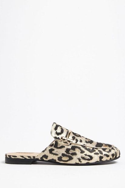 no sale tax buy sale how to buy forever21 SHOES, Leopard Print Loafer Mules for Women at ...