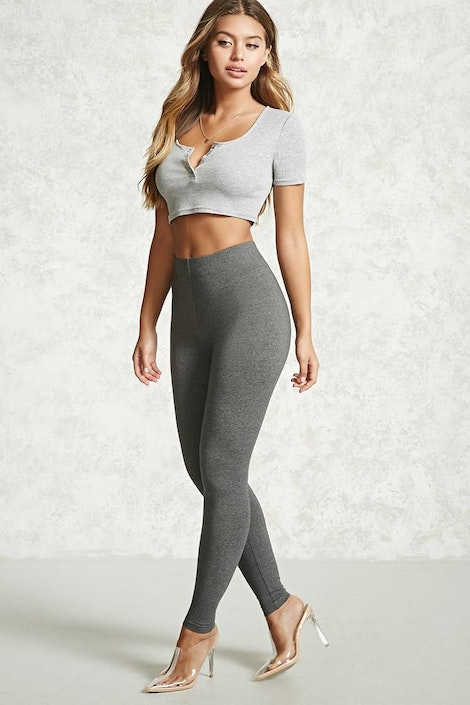 3a47495f8fa0bf forever21  LEGGING. Heathered Knit Leggings. Heathered Knit Leggings