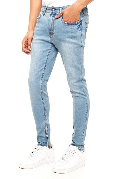 f4a28a183 forever21 DENIM PANT, Ankle Zipper Skinny Jeans for Men at Forever21.in