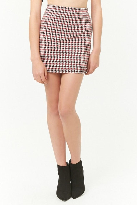 e64b155d5d30 forever21 SKIRT, Houndstooth Mini Skirt for Women at Forever21.in