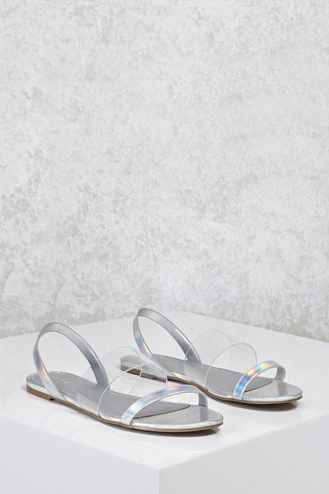 7b7ba9e12 Holographic Clear Sandals