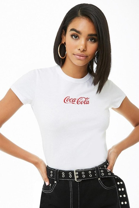 a9c9edccaf9 forever21 LOGO, Coca-Cola Embroidered Tee for Women at Forever21.in