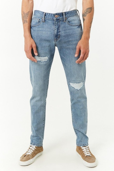 5b613d517e712 forever21 DENIM PANT, Distressed Skinny Jeans for Men at Forever21.in
