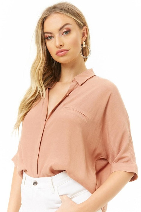 f7fdc820e96dc4 forever21 WOVEN TOP, Dolman-Sleeve Shirt for Women at Forever21.in