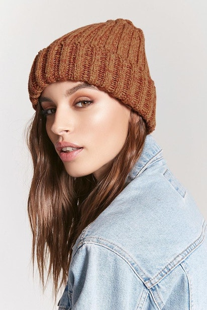 ddccf7083 forever21 HATS, Marled Ribbed Knit Beanie for Women at Forever21.in