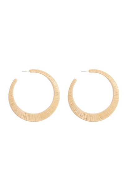 4db9107ccc9f8 forever21 JEWELRY, Thread-Wrapped Hoop Earrings for Women at ...