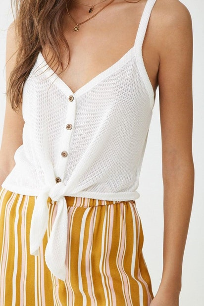 a0e929ba5 forever21 KNIT TOP, Tie-Front Button-Down Cami for Women at Forever21.in