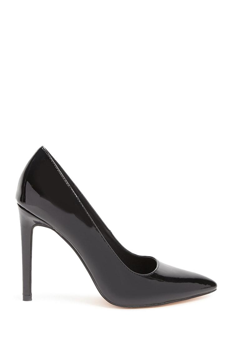 Buy BLACK Faux Patent Leather Pumps for