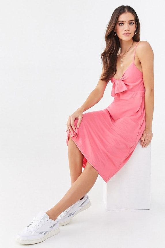 Knotted Cami Midi Dress